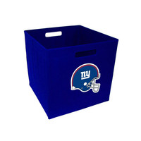 Storage Cube 12-Inch, Cloth - New York Giants