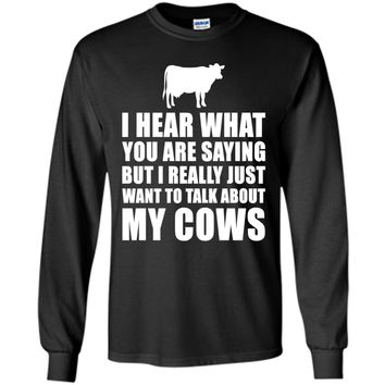 Funny Cow Gift Idea - Dairy Farmer Dad Or Granddad Shirt Father's day t-shirt