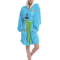 ADVENTURE TIME JAKE FINN SWORD HOODED POOL BATH ROBE COSTUME ADULT SIZE L/XL NEW