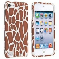 eForCity Snap-On Rubber Coated Case for Apple iPod touch 5G, Coffee Giraffe