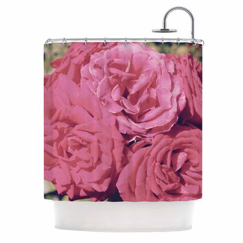 "Susan Sanders ""Blush Pink Blooming Roses"" Floral Photography Shower Curtain"