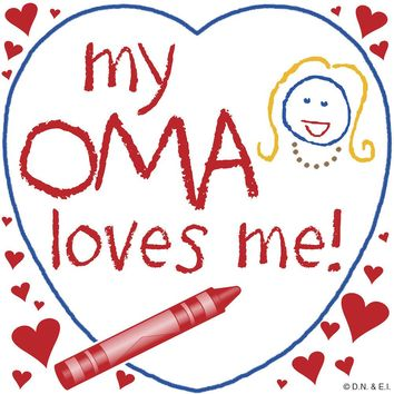Dutch Oma Gift Plaque: My Oma Loves Me!