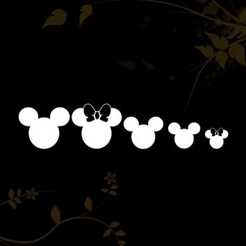 Mickey Mouse Family Heads Decal for your Car, Walls, Laptops, iPhone, iPad and Water bottles.