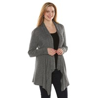 Apt. 9 Ribbed Open-Front Cardigan - Women's Plus Size, Size: