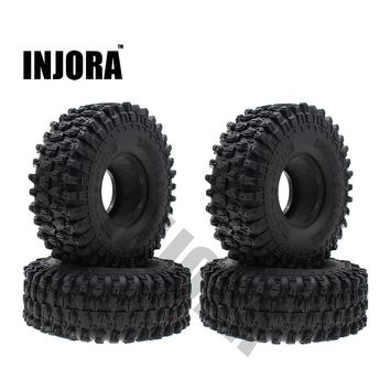 "4PCS 120MM 1.9"" Rubber Rocks Tyres / Wheel Tires for 1:10 RC Rock Crawler Axial SCX10 90047 RC4WD D90 D110 TF2 Traxxas TRX-4"