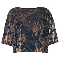 Floral Devore Burnout Top