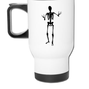 Scary human skeleton design  - Travel Mug