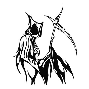 Grim Reaper Tribal (b) Die Cut Vinyl Decal Sticker