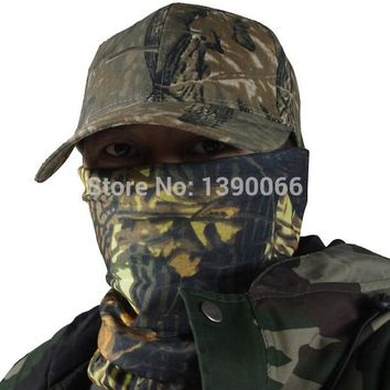 Outdoor Sports Men camo riding face mask magic scarf Neck scarf wrist towel for hunting camping cycling