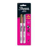 Sharpie Oil-Based Paint Markers, Extra Fine Point, 2-Pack, Metallic (30588PP)