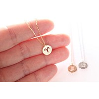 Gold Dainty Aries Necklace