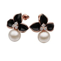 MLOVES Women's Delicate Cute Korean Style Pearl Inlaid Ear Cuffs