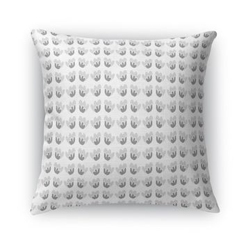 DANCING FLOWER, NEUTRAL Accent Pillow By Heidi Miller