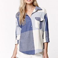 Roxy Checked Shirt - Womens Shirts - Blue