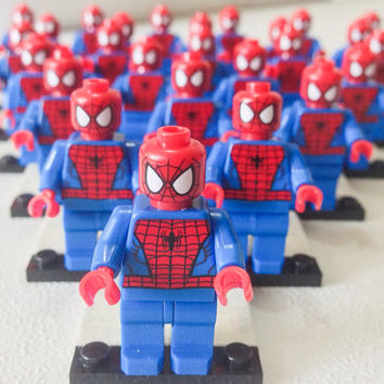 LEGO Sale 50% OFF + Free Ship! 30 Lego® SPIDERMAN Minifigurine, Lego Party Favor Giveaway, Lego Party Avengers, Marvel Superhero Party Favor