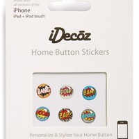 iDecoz 'Comic' Home Button Stickers (6-Pack)