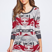 0729-47449890 Aztec Sweater Dress