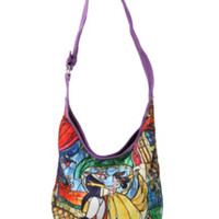 Disney Beauty And The Beast Stained Glass Hobo Bag