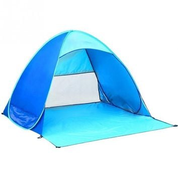 Foldable 2 Persons Outdoor Camping Tent Waterproof Ultralight Tents Lightweight Sun Shade Portable Pop Up Beach tent 3*3M