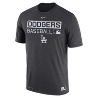 Los Angeles Dodgers Nike Authentic Collection Legend Team Issue Performance T-Shirt - Black