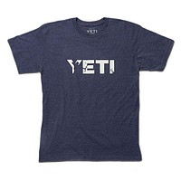Full Draw Hunter Tee in Heather Navy by YETI