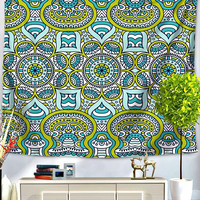 Teal Appeal Bohemian Bed Wall Tapestry
