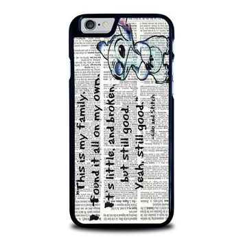 lilo and stitch quotes disney iphone 6 6s case cover  number 1