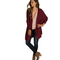 Burgundy Warm Up Cardigan