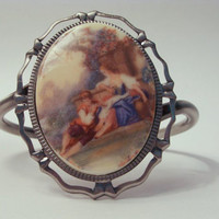 CLASSICAL REGENCY ART: Afternoon In The French Countryside Cuff Bracelet.