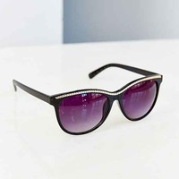 Chained Cat-Eye Sunglasses- Black One
