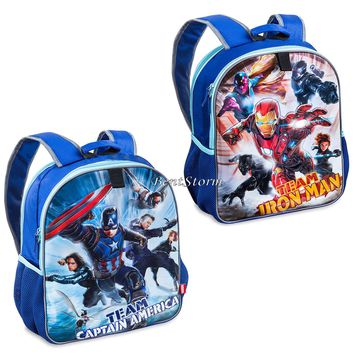 Licensed cool Marvel Captain America: Civil War REVERSIBLE School Backpack Bag Disney Store