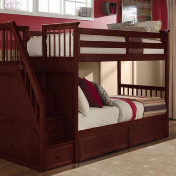 Craftsman Twin over Twin Stairway Bunk Bed