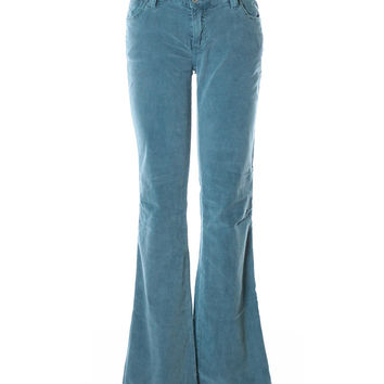 Antik Denim Dusty Teal Low Rise Bootcut Corduroy Jeans (Antik Batik)