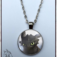 Toothless necklace inspired dragon trainer how to train your dragon