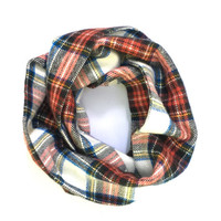 Plaid Toddler Scarf Flannel Scarf Girl Scarf Kid Scarf Boy Scarf Child's Winter Scarf Unisex Scarf Red White Blue Yellow Green Ready to Ship