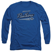 FRIDAY NIGHT LIGHTS/PANTHERS 78 - L/S ADULT 18/1 - ROYAL - XL - Royal Blue -