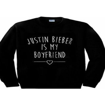 DCCKJ1A Individual long-sleeved letters sweater JUSTIN BIEBER IS MY BOYFRIEND