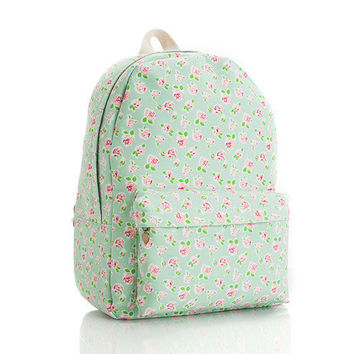 Pastoral Style Canvas Backpack = 4887504772
