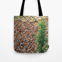 Fence Tote Bag by Stephen Linhart