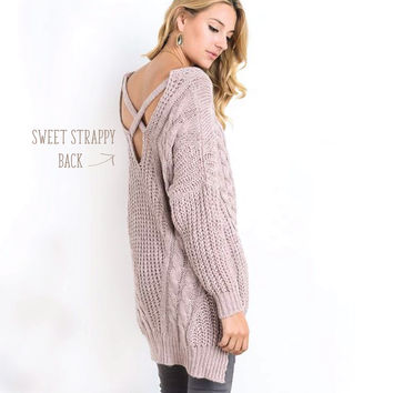 Sweet Strappy Sweater