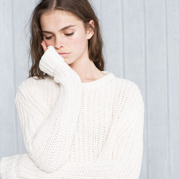 Chunky knit sweater - Knit - Clothing - Woman - PULL&BEAR United Kingdom