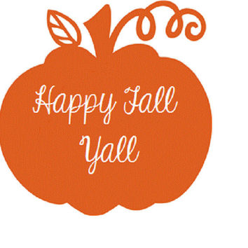 Pumpkin Fall Decal - Custom Pumpkin Vinyl Decal