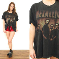 Vintage 1998 METALLICA 90s Summer North America Tour Oversized T Shirt Tee // Metal Biker Hipster Grunge Rock // Small / Medium / Large