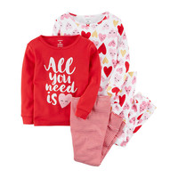 Carters 4 pc Pajama Set Toddler Girls 2T 5T JCPenney