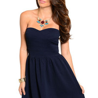 Downtown Beauty Sleeveless Dress in Navy