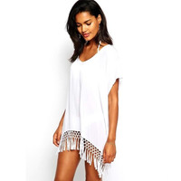 Cover Up On the Fringe Tunic