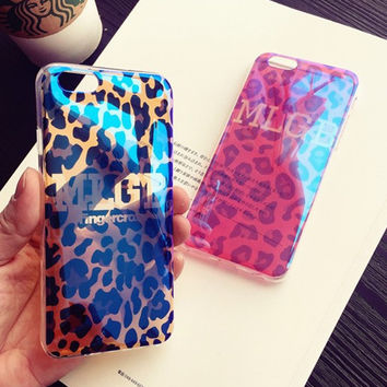 Leopard print mobile phone case for iPhone 6 6s 6plus 6s plus + Nice gift box!