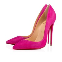 So Kate 120 Ultra Rose Suede - Women Shoes - Christian Louboutin