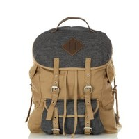 Grey and Stone Double Strap Heritage Backpack