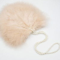 Mae Blush Feather Wedding And Bridal Purse